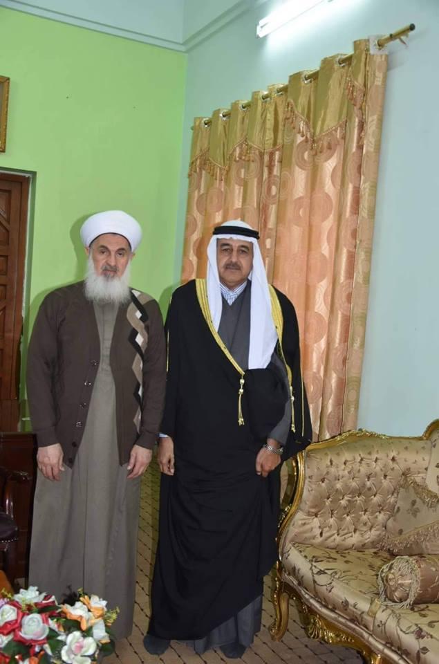 نتيجة بحث الصور عن لقاء مفتي العراق شيوخ